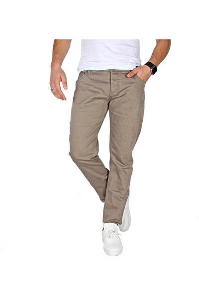 Mcr Moda Crise Mcr Erkek Keten Pantolon 8Y-38584-01 Bej