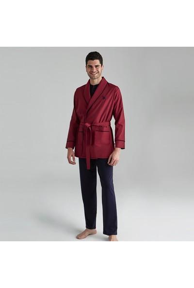 U.S. Polo Assn. Erkek Damat Çeyiz Pijama Takım Robdöşambır Lacivert 12000