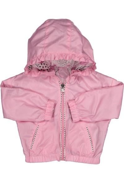 Midimod Kız Çocuk Yağmurluk Trençkot Mont 2-5 Yaş Pembe M19105