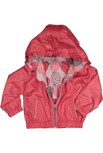 Midimod Kız Çocuk Yağmurluk Trençkot Mont 2-5 Yaş Nar M19105