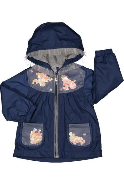 Midimod Kız Çocuk Yağmurluk Mont Trençkot 2-5 Yaş Laci M19112