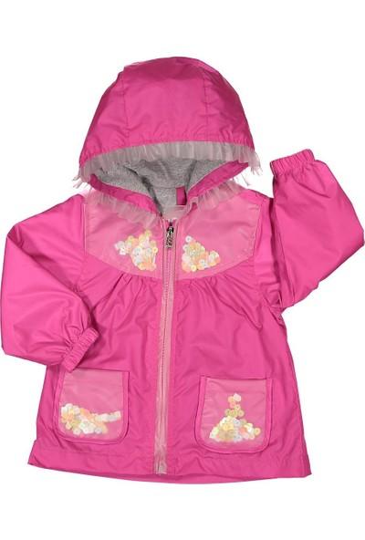 Midimod Kız Çocuk Yağmurluk Mont Trençkot 2-5 Yaş Fuşya M19112