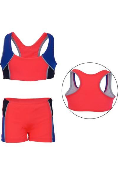 Dagi Kız Çocuk Bikini Takımı Şortlu Yüzücü Sporcu 3-12 Yaş 4500Cb