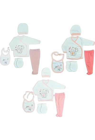 Çungur Bebe Kız Bebek Hastane Çıkışı 5Li Zıbın Seti