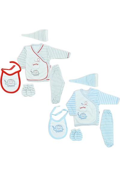 Çungur Bebe Erkek Bebek Hastane Çıkışı 5Li Zıbın Seti