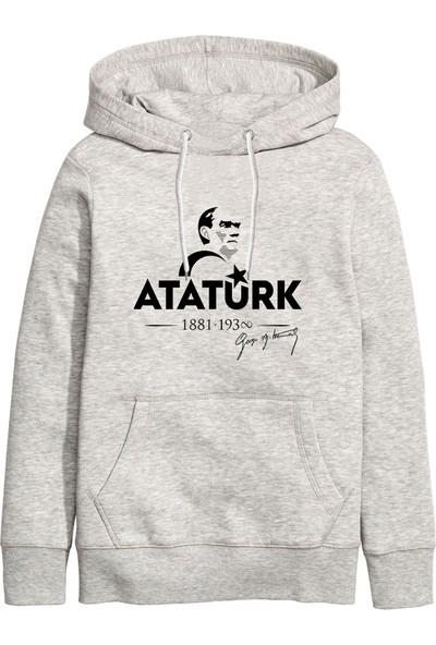 Art T-Shirt Atatürk Ay Yıldız Unisex Kapüşonlu Sweathirt