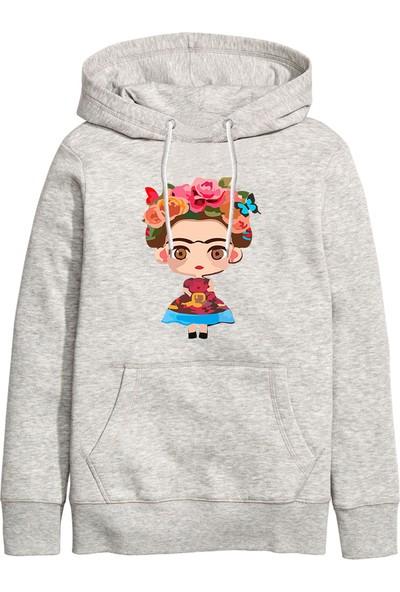 Art T-Shirt Frida Jr. Unisex Kapüşonlu Sweathirt