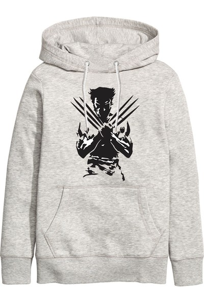 Art T-Shirt X Men Volverine Unisex Kapüşonlu Sweathirt