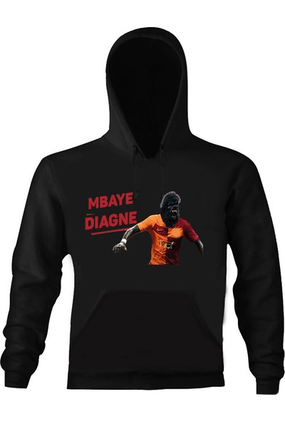 Art T-Shirt Mbaye Diagne Maske Kapüşonlu Sweatshirt