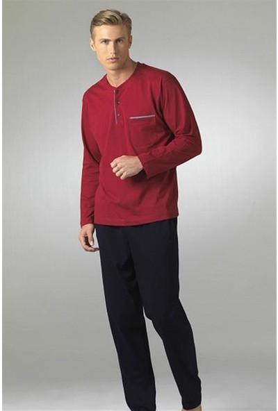Pierre Cardin Damatlık Erkek Pijama Takımı 5454 Lacivert