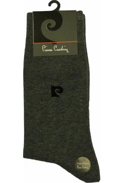 Pierre Cardin Lisanslı Logolu Kalın Erkek Çorabı 804 Gri