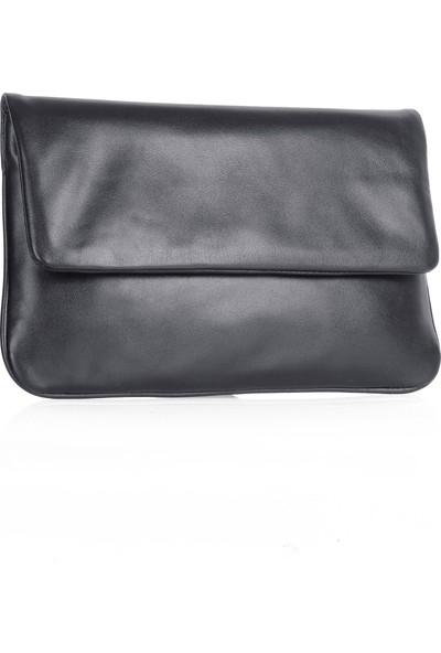 Bilik Deri Hakiki Deri Kadın Portföy Çanta Siyah 008-15