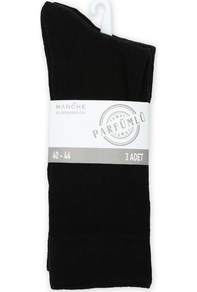 Manche Meç 1004 Parfmlü Pamuk 3'Lü Çorap