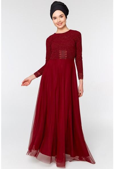 Fullamoda Simli Güpürlü Elbise