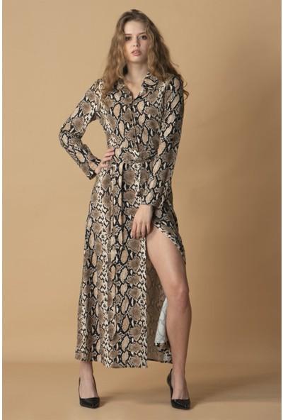 Livanomi Yılan Desenli Elbise