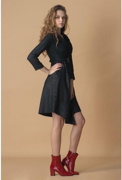 Livanomi Kurvaze Asimetrik Elbise