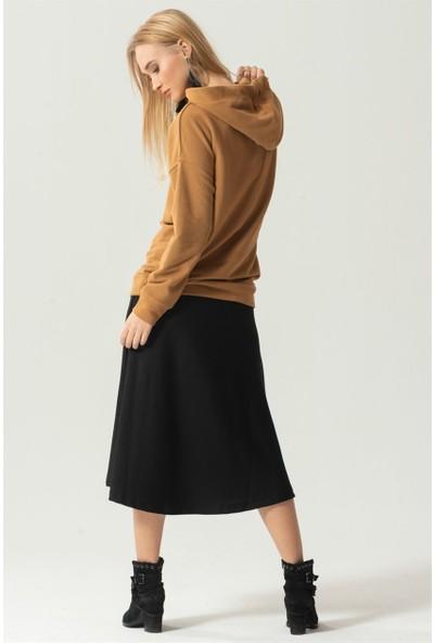 Livanomi Camel Kapüşonlu Sweatshirt