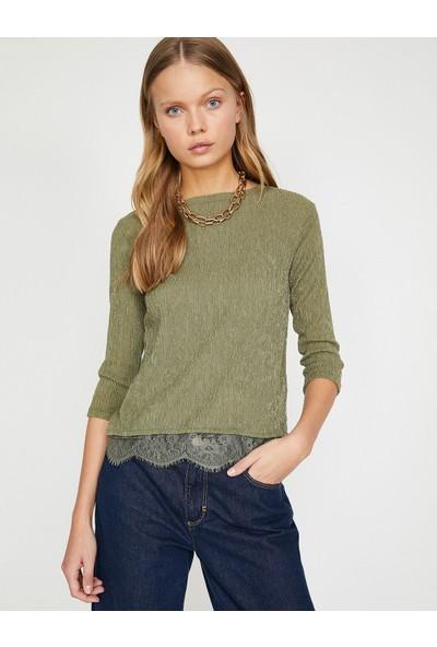 Koton Dantel Detaylı Sweatshirt