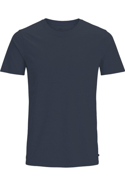 Jack & Jones Tişört Jjeplain Ss O Neck 12136712-Nvy