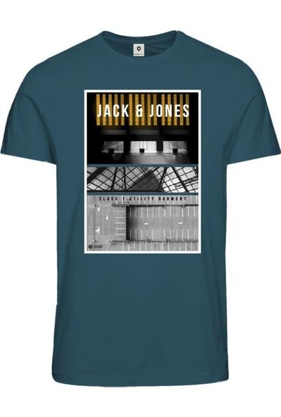 Jack & Jones Tişört Jcopaul Ss Crew Neck 12153522-Blu