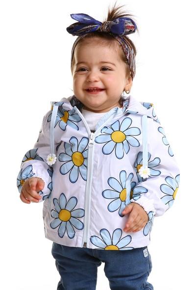 Verscon Papatya Baskılı Kız Bebek Yağmurluk