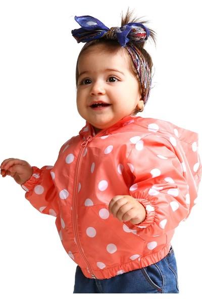 Verscon Puanlı Kız Bebek Yağmurluk