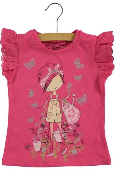 Civil Baby Kız Çocuk Tişört 2-5 Yaş Fuşya
