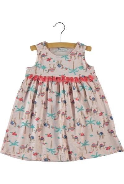 Cvl Kız Çocuk Elbise 2-5 Yaş Pudra