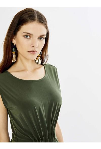 Xint Kadın Yuvarlak Yaka Kolsuz Viscon Mini Elbise