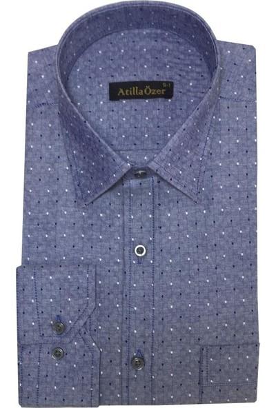 Atilla Özer Uzun Koll Klasik Erkek Gömlek - 2089