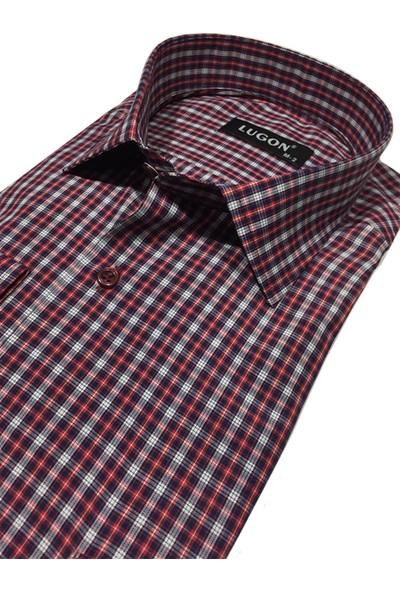 Lugon 01082 Uzun Kol Klasik Erkek Gömlek