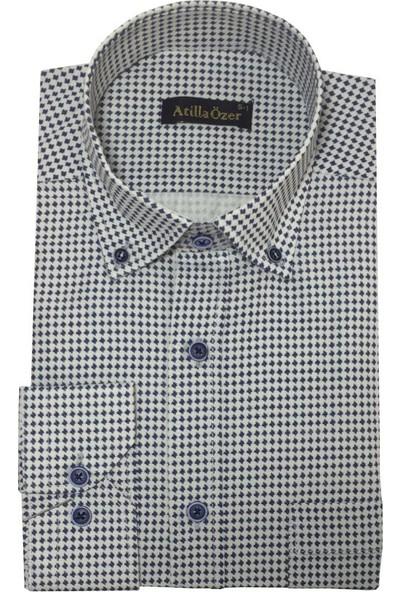 Atilla Özer Uzun Koll Klasik Erkek Gömlek - 2074