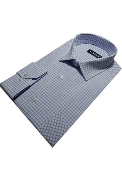 Lugon 0263 Uzun Kol Klasik Erkek Gömlek