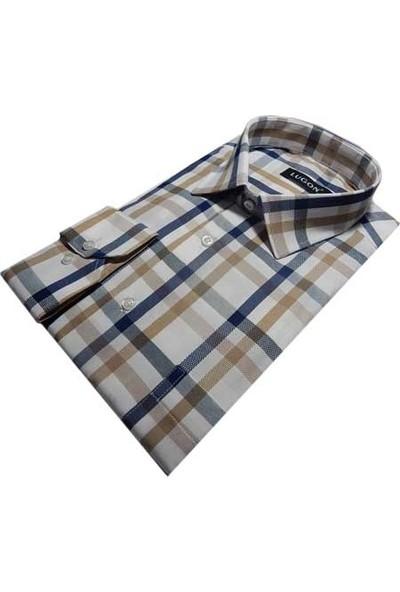 Lugon 0177 Uzun Kol Klasik Erkek Gömlek