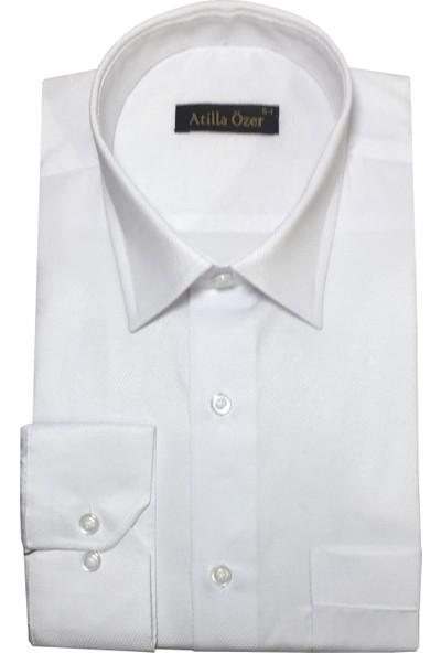 Atilla Özer Uzun Kol Klasik Erkek Gömlek - 2092