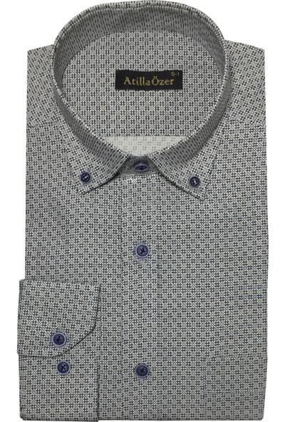 Atilla Özer Uzun Kol Klasik Erkek Gömlek - 2104