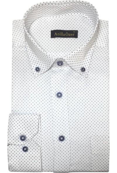 Atilla Özer Uzun Koll Klasik Erkek Gömlek - 2070