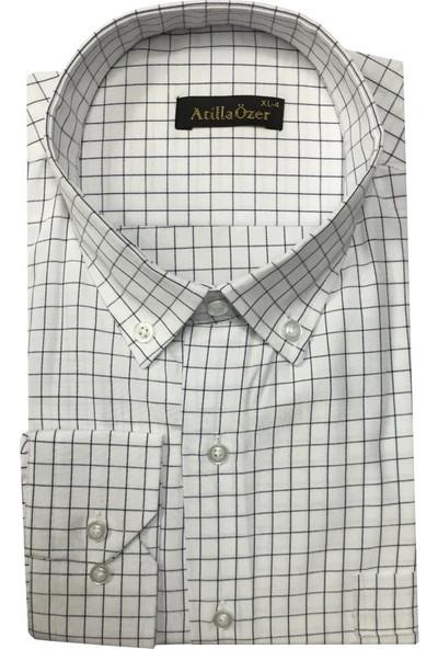 Atilla Özer Uzun Kol Klasik Erkek Gömlek - 1887