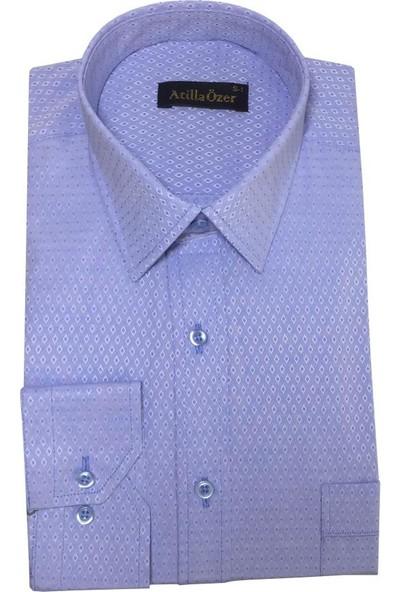 Atilla Özer Uzun Koll Klasik Erkek Gömlek - 2087