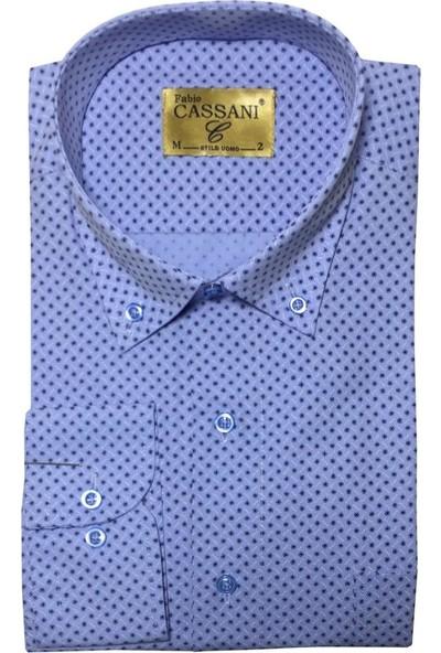 Fabio Cassani Uzun Kol Klasik Erkek Gömlek - 2053