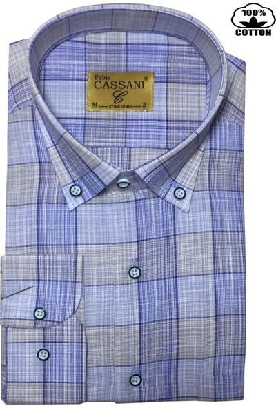 Fabio Cassani %100 Pamuk Klasik Erkek Gömlek - 2043