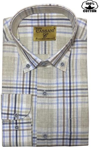 Fabio Cassani %100 Pamuk Klasik Erkek Gömlek - 2040