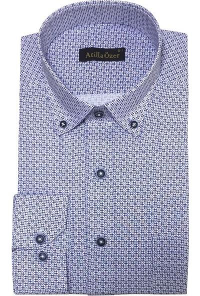 Atilla Özer Uzun Koll Klasik Erkek Gömlek - 2084