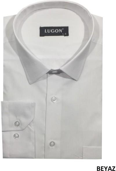 Lugon 3 Farklı Renk Lugon Uzun Kol Klasik Erkek Gömlek
