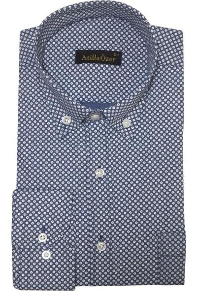 Atilla Özer Uzun Koll Klasik Erkek Gömlek - 2083
