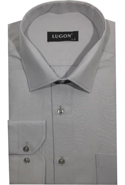Lugon Uzun Kol Klasik Erkek Gömlek - 1383