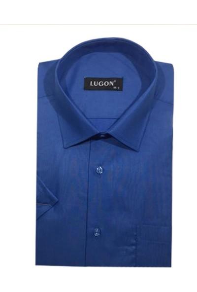 Lugon Kısa Kol Klasik Erkek Gömlek - 1370