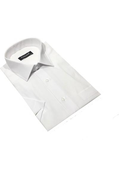 Lugon 01115 Kısa Kol Klasik Erkek Battal Gömlek