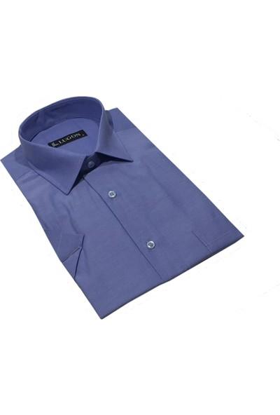 Lugon 01105 Kısa Kol Klasik Erkek Gömlek