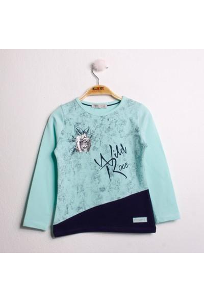 Toontoy Kız Çocuk Tshirt Eskitme Baskı
